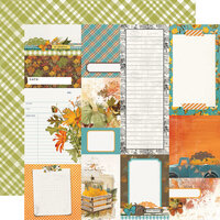 Simple Stories - Simple Vintage Country Harvest Collection - 12 x 12 Double Sided Cardstock - Journal Elements