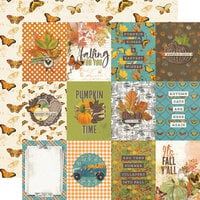 Simple Stories - Simple Vintage Country Harvest Collection - 12 x 12 Double Sided Cardstock - 3 x 4 Elements