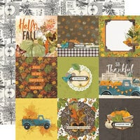 Simple Stories - Simple Vintage Country Harvest Collection - 12 x 12 Double Sided Cardstock - 4 x 4 Elements