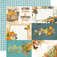 Simple Stories - Simple Vintage Country Harvest Collection - 12 x 12 Double Sided Cardstock - 4 x 6 Elements