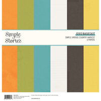 Simple Stories - Simple Vintage Country Harvest Collection - 12 x 12 Basics Kit