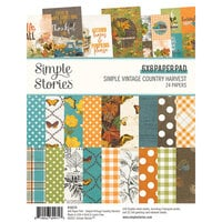 Simple Stories - Simple Vintage Country Harvest Collection - 6 x 8 Paper Pad