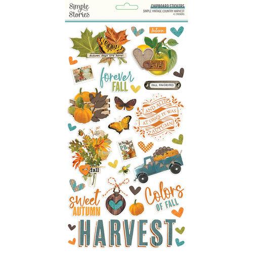 Simple Vintage Country Harvest Chipboard