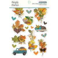 Simple Stories - Simple Vintage Country Harvest Collection - Sticker Book