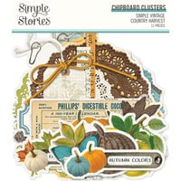 Simple Stories - Simple Vintage Country Harvest Collection - Chipboard Clusters