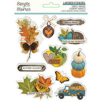 Simple Stories - Simple Vintage Country Harvest Collection - Layered Stickers