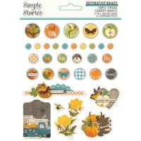 Simple Stories - Simple Vintage Country Harvest Collection - Decorative Brads