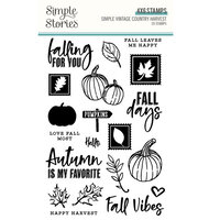 Simple Stories - Simple Vintage Country Harvest Collection - Clear Photopolymer Stamps