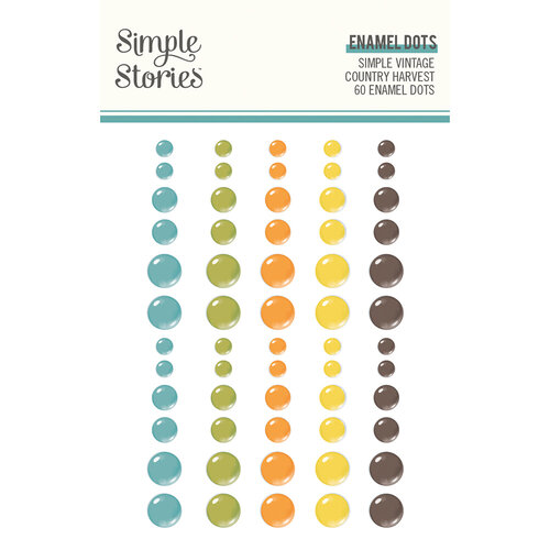 Simple Vintage Country Harvest Enamel Dots