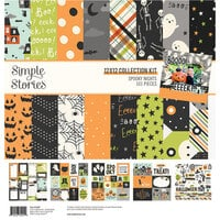 Simple Stories - Spooky Nights Collection - Halloween - 12 x 12 Collection Kit