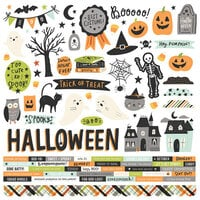 Simple Stories - Spooky Nights Collection - Halloween - 12 x 12 Cardstock Stickers