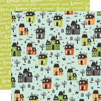 Simple Stories - Spooky Nights Collection - Halloween - 12 x 12 Double Sided Paper - Let's Get Spooky