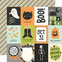Simple Stories - Spooky Nights Collection - Halloween - 12 x 12 Double Sided Paper - 3 x 4 Elements