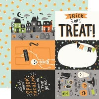 Simple Stories - Spooky Nights Collection - Halloween - 12 x 12 Double Sided Paper - 4 x 6 Elements