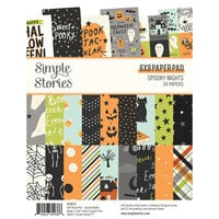 Simple Stories - Spooky Nights Collection - Halloween - 6 x 8 Paper Pad