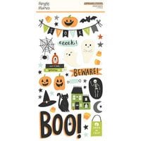 Simple Stories - Spooky Nights Collection - Halloween - 6 x 12 Chipboard Stickers