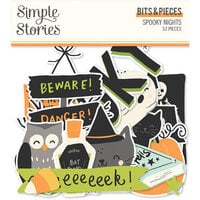 Simple Stories - Spooky Nights Collection - Halloween - Bits and Pieces