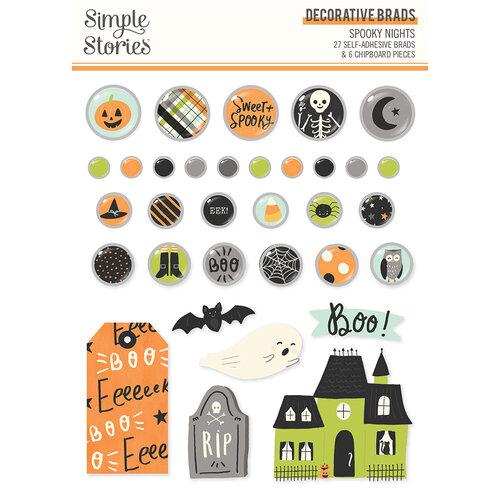Spooky Nights Decorative Brads