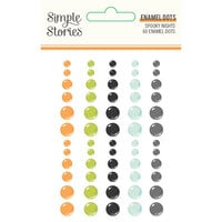 Simple Stories - Spooky Nights Collection - Halloween - Enamel Dots