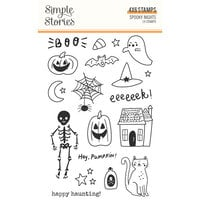 Simple Stories - Spooky Nights Collection - Halloween - Clear Photopolymer Stamps