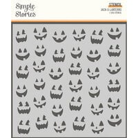 Simple Stories - Spooky Nights Collection - Halloween - 6 x 6 Stencil - Jack-O-Lanterns