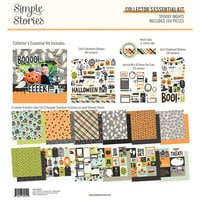 Simple Stories - Spooky Nights Collection - Halloween - 12 x 12 Collector's Essential Kit