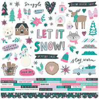 Simple Stories - Feelin' Frosty Collection - 12 x 12 Cardstock Stickers