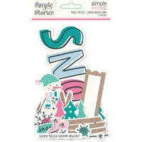 Simple Stories - Simple Pages Collection - Page Pieces - Snow Much Fun!