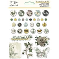 Simple Stories - Simple Vintage Weathered Garden Collection - Decorative Brads
