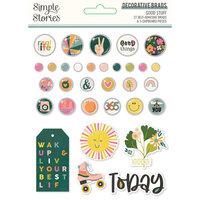 Simple Stories - Good Stuff Collection - Decorative Brads