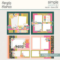Simple Stories - Simple Pages Collection - Page Kit - Laugh and Love