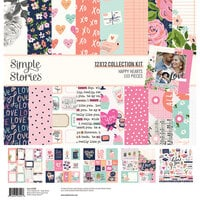 Simple Stories - Happy Hearts Collection - 12 x 12 Collection Kit