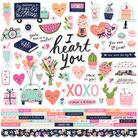 Simple Stories - Happy Hearts Collection - 12 x 12 Cardstock Stickers