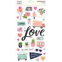 Simple Stories - Happy Hearts Collection - 6 x 12 Chipboard Stickers