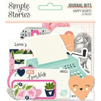 Simple Stories - Happy Hearts Collection - Journal Bits