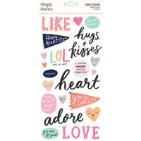 Simple Stories - Happy Hearts Collection - Foam Stickers