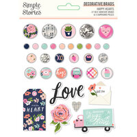 Simple Stories - Happy Hearts Collection - Decorative Brads