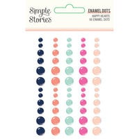 Simple Stories - Happy Hearts Collection - Enamel Dots