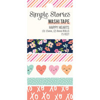Simple Stories - Happy Hearts Collection - Washi Tape