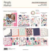 Simple Stories - Happy Hearts Collection - 12 x 12 Collector's Essential Kit