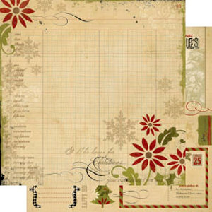 Memory Works - Simple Stories - 25 Days of Christmas Collection - 12 x 12 Double Sided Paper - Glad Tidings