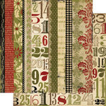Memory Works - Simple Stories - 25 Days of Christmas Collection - 12 x 12 Double Sided Paper - Merry and Bright