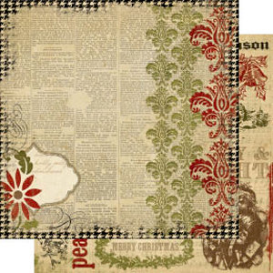 Memory Works - Simple Stories - 25 Days of Christmas Collection - 12 x 12 Double Sided Paper - Believe