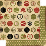 Memory Works - Simple Stories - 25 Days of Christmas Collection - 12 x 12 Double Sided Paper - Peace Love Joy