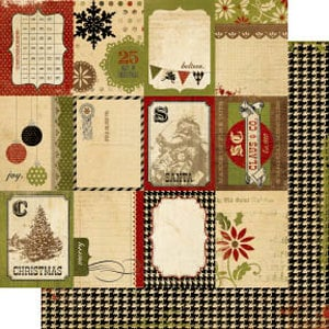 Memory Works - Simple Stories - 25 Days of Christmas Collection - 12 x 12 Double Sided Paper - Flash Cards