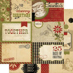 Memory Works - Simple Stories - 25 Days of Christmas Collection - 12 x 12 Double Sided Paper - Journaling Card Elements 1