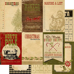 Memory Works - Simple Stories - 25 Days of Christmas Collection - 12 x 12 Double Sided Paper - Vertical Journaling Card Elements