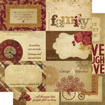 Memory Works - Simple Stories - Generations Collection - 12 x 12 Double Sided Paper - Journaling Card Elements 1