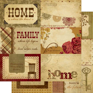 Memory Works - Simple Stories - Generations Collection - 12 x 12 Double Sided Paper - Journaling Card Elements 2