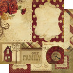 Memory Works - Simple Stories - Generations Collection - 12 x 12 Double Sided Paper - Quote and Photo Mat Elements